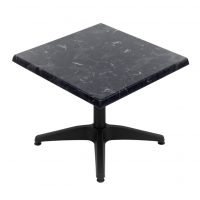 600mm Square Alcantara Black (Marble) with Matte Black Roma Coffee Base