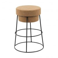 Bouchon Stool 66cm Gloss Black