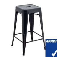 Medium Replica Tolix Stool in Matte Black